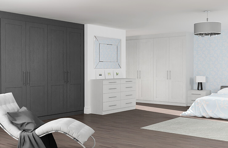 Matfen Light Grey Oak and Graphite Oak