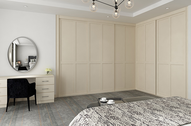 Frameless Alnwick in Pale Cream