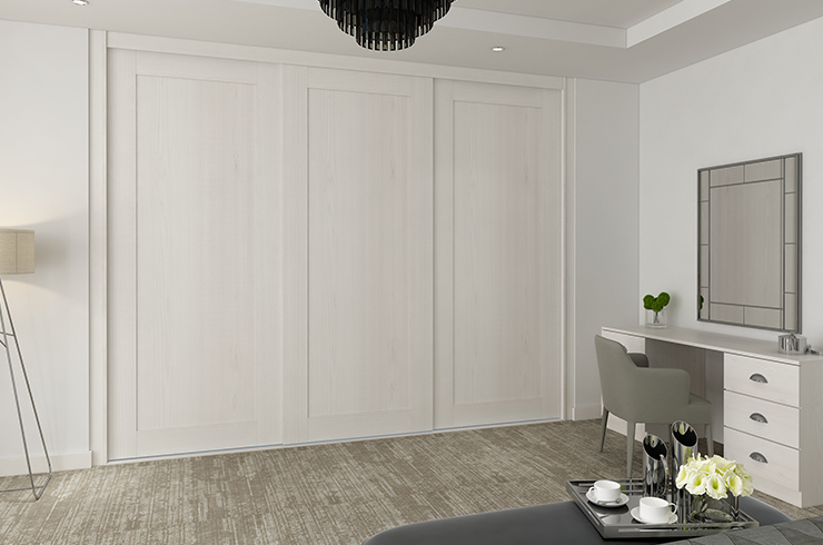 Frameless Shaker in White Coastland