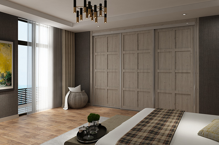 Hampton Double Panel in Satin Coastland