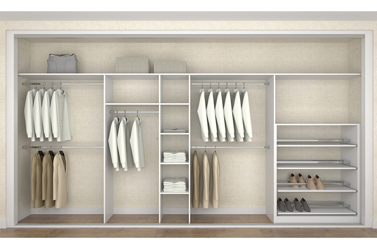 Interior Design in White Finish with Pull Out Shoe Rack