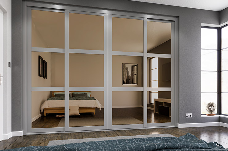 Shaker Stone Grey Frame with Bronze Mirror