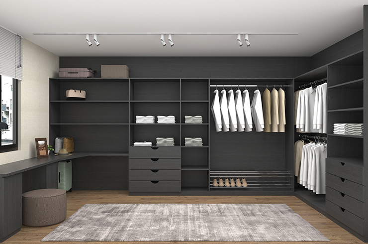 Walk-in Interior Design in Graphite Oak